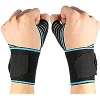 Doact Wraps de poignet Soutien au poignet avec des boucles de pouce plus larges pour CrossFit, Dynamophilie, Haltérophilie pour hommes et femmes avec une longueur supplémentaire