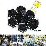 Solar-Springbrunnen, AngLink Solar-Teichpumpe mit 1,5 W Solar Panel Schwimmende Fontäne für Gartenteich, Vogel-Bad, Fisch-Teich, Kleinen Teich