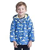 Hatley Jungen Regular Fit Regenjacke Printed Raincoat, Blau (Dinosaur Menagerie), 5 Jahre