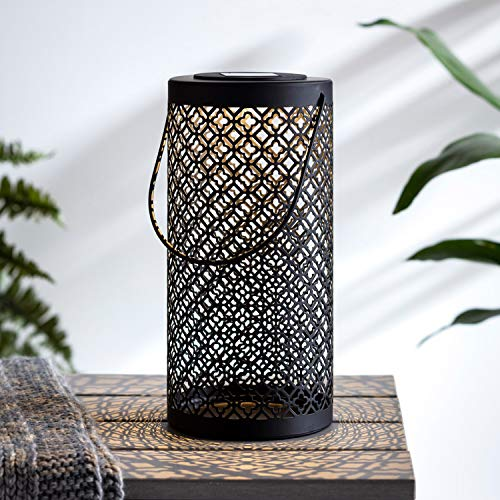 Lights4fun - Farolillo Decorativo Solar Grande Metal