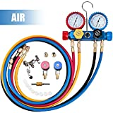 4YANG Koelmiddel Manifold Gauge Set 4-weg wisselstroom combi-instrument voor diagnose-verdeler airconditioning voor het laden