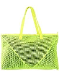 Tuelip Women's Fashion Net Synthetic Tote Bag & Zipped PU Women's Stylish Regular Use Bag Hand Bag/Shoulder Bag...