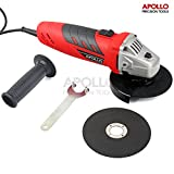 51eLFD3Vy0L. SL160  - BEST BUY #1 Apollo 500W 115mm Angle Grinder with Safety Guard and Support Handle & 2 Piece Polishing Discs. Suitable for Metal and Construction Work Grinding, Polishing & Cutting Reviews and price compare uk