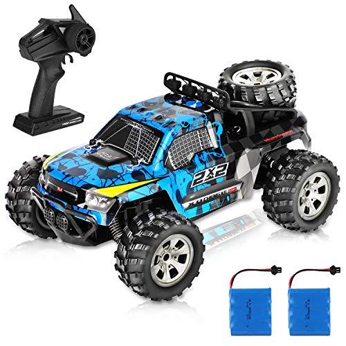Tomatu Ferngesteuertes Auto, 1:18 RC Auto Off Road Buggy, 2.4 Ghz Radio Control Geländewagen Spielzeug Fahrzeug Doppelte Batterie für Kinder Erwachsene
