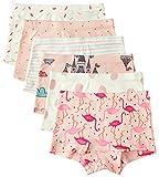 6 Pack Kleines Mädchen Kurzärmelig Unterwäsche Baumwolle Baby Mädchen Höschen Kleinkind Mädchen Unterhosen, Flamingo, 3-4 Jahre / Taille 42 cm, Höhe 100-110 cm