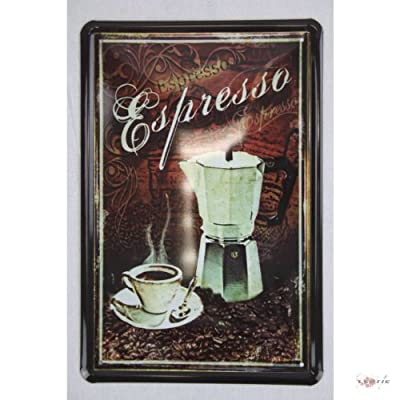 Italian Espresso Coffee Metal sign 20 x 30 CM with Kitchen tin sign, Replica