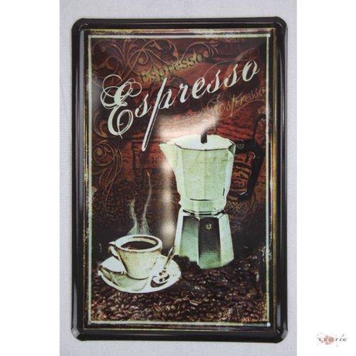 Blechschild Italien Espresso Cafe Küchendeko 20 x 30 cm tin sign enseignes en metál Metallschild Retro Werbung Blechschilder