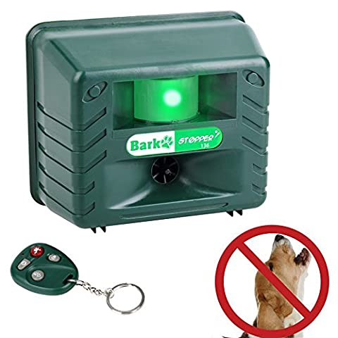 SEICOSY Ultrasonic Dog Repellent Bark Stopper Built-In Pest Repeller with Infrared Motion Sensor,Effectively Stop Dog Barking and Repel Mice, Squirrels, Fox ,Bat,Raccoon with Remote