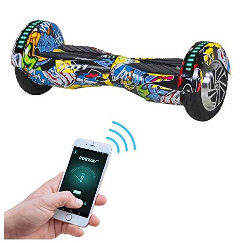 Robway W2 Hoverboard - Das Original - Samsung Marken Akku - Self Balance - Bluetooth - 2 x 350 Watt Motoren - 8 Zoll Räder (Blau Graffiti)