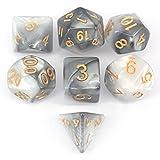 Y-HUA 7pcs / Set dices di Dadi Poliedrico per Dungeons & Dragons Giochi da tavolo 26