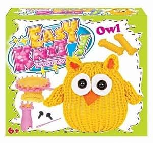Children's Easy Knitting Yellow Owl Reusable Starter Kit Great Present