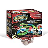 LIGHTNING SPEEDY Circuit de Voiture Flexible, modulable et Luminescent Ultra Fun avec Ses 180 Rails - Starter Set