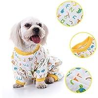Perro de perro perro patrón de la letra de algodón pijamas ocio y duradera mono de animal doméstico por Awhao M