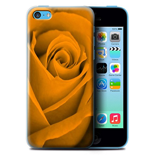 Stuff4 Hülle / Case für Apple iPhone 7 Plus / Gelb Muster / Rose Kollektion Orange