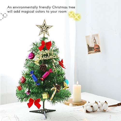 Albero Di Natale 50 Cm.50cm Albero Di Natale Con Luci A Led Decorazione Da Tavola Xmas Party Ornament Per Home Office Tavolo Da Biliardo Vetrofania Albero Di Natale Con Led
