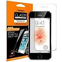 Spigen® Pellicola Vetro Temperato iPhone SE / 5s / 5 / 5C, **Easy-Install Kit** [Anti-riflesso Ultra-Clear] Ultra resistente in Pellicola vetro temperato iPhone 5S / 5 / 5C / SE, Pellicola Protettiva iPhone SE / 5s / 5 / 5C, Pellicola iPhone 5S / 5 / 5C / SE 041GL20597