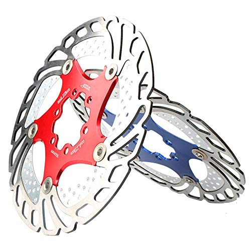 Fahrradbremsscheibe Schwimmende Scheibenbremse Rotor 6 Schrauben Aluminiumlegierung Fahrrad Scheibenbremse Rotor for Die Meisten Fahrrad Rennrad Mountainbike BMX MTB 160mm Pad Einsteller Bremse Geeign