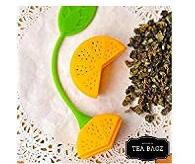 TEA-BAGZ/ Lot de 2 Infuseurs de Thé en forme de Orange/ Idéal pour une infusion Bio/Tisane/Thé vert,/ Thé noir/ Accessoires Home et Cuisine/ Diffuseur à Thé Original/ Diffuseur à Thé de Haute Qualité / Diffuseur de thé 100% silicone/ Infuseur à Thé en sil