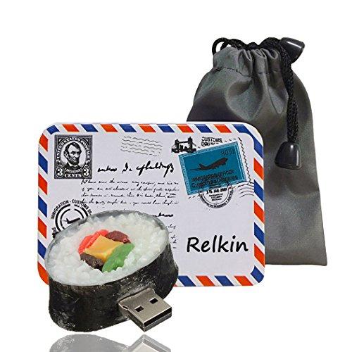 Relkin cute funny cartoon usb pollice flash drive memory stick pen drive regalo novità a forma di cibo sushi 8gb