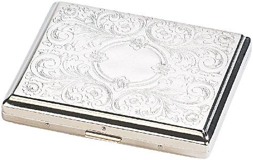 Abbildung: Rosenstein & Söhne Zigarettenetuis: Edles Zigarettenetui aus Edelstahl, für ca. 16 Zigaretten (Zigarettenbox)