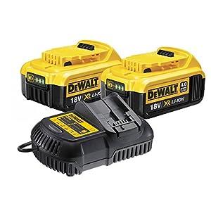 Dewalt DCB182 2 x 4.0ah 18v XR Lithium Ion Batteries DCB105 Charger