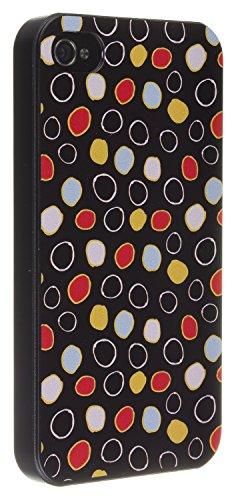 Trendz Hard Shell Clip-On Hülle Schutzhülle Case Cover Schale für iPhone 4/4S - Polka Dot - Case Iphone 4 Blauer Glitter