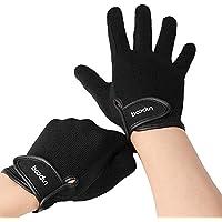 Lixada - Guantes de equitación para hombre y mujer, guantes de equitación para pantalla táctil, para ciclismo, equitación y actividades al aire libre (negro, M)