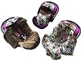 BABEES© Einschlagdecke MINKY Babyschale Autositz Decke [BÄRE BRAUN + BRAUN]