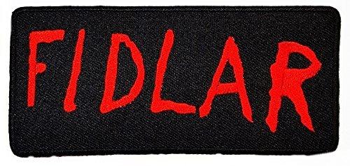 Fidlar (rot schwarz) Cool Funny Biker Patch für DIY Bone Ghost Hog Outlaw Hot Rod Motorräder Rider Lady Biker Jacket T Shirt Patch Sew Iron on gesticktes Badge Schild ()