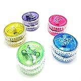 Kompassswc Jo-Jo mit LED Licht yoyo mit blinkend lichteffekt Freizeit Spielzeug Zufällig Farbe (5 Stück)
