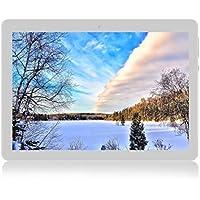 Android Tablet de 10'' Procesador de Cuatro núcleos 4GB de RAM y 64 GB de Memoria Tablet PC WiFi Cámara GPS y Doble Ranuras de Tarjeta SIM Internet 3G