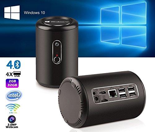 Smart Windows10 Mini PC  HoLead G2 Windows Quad Core 2GB RAM 32GM ROM TV BOX with 2MP Webcam