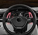 Aleación de aluminio Engranaje del volante Cambio de paleta Accesorios de automóvil para Tiguan Golf 6 MK6 Jetta GTI R20 R36 CC Scirocco EOS rojo