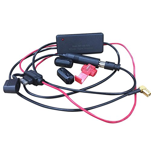Prom-near 3 in 1 Universal DC12V-24V Auto Autoradio FM/AM Antenne DAB Receiver DAB Signal Verstärker Verstärker für Marine Automotive Marine 660 mm FM/AM Verstärker SMA/SMB Stecker Digitale Antenne Marine