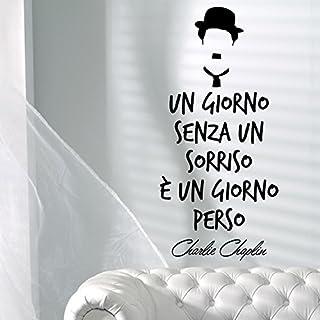 adesiviamo 1959-m ein Tag ohne Lächeln Bowler Hat Charlie Chaplin ab Wandaufkleber