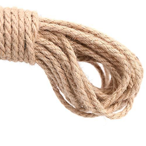 Cuerda gruesa resistente yute natural 20 metros, 3