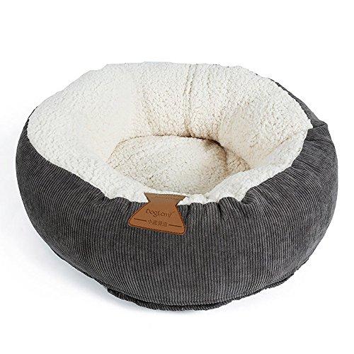 Winter Cat Hundebett, rund Fleece Donut Cat Pet Kissen Haus