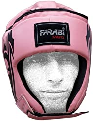 Farabi Female Boxing MMA Muay Thai Kickboxing jiu jitsu karate taekwondo bjj martial arts training punching face protector head guard.