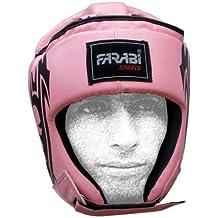 Farabi Female Boxing MMA Muay Thai Kickboxing jiu jitsu karate taekwondo bjj martial arts training punching face protector head guard. (LARGE)