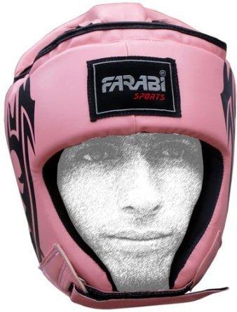 Farabi Boxeo Protector de Cabeza Mix Artes Marciales Kick Entrenamiento Rosa protección Facial tamaño...