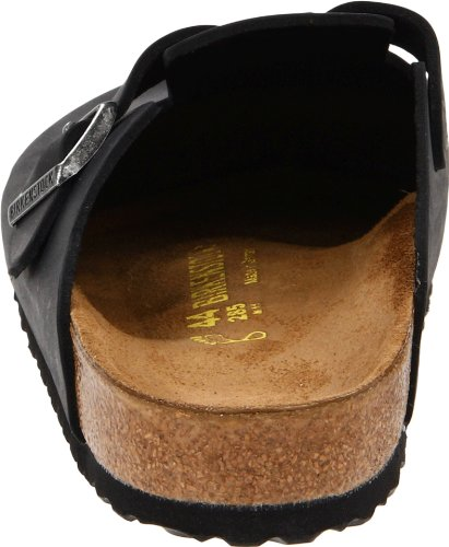 Birkenstock Boston 260331, Chaussures mixte adulte Black Oiled Leather