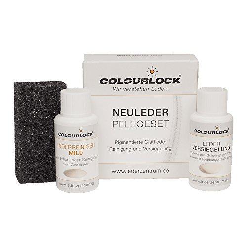"""Colourlock® Glattleder Pflegeset mit Leder Versiegelung Mini, mit Lederreiniger """"mild"""", reinigt und versiegelt Leder (Auto, KFZ, Möbel, Lederjacke)"""