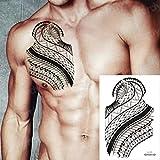 Handaxian 3pcsTatuaje y Arte Corporal Hombre Hombro Tatuaje Tribu Negra