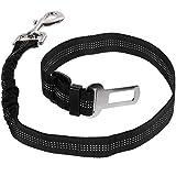 Faburo Hunde Sicherheitsgurt für Auto ,Verstellbare Autogurte und Elastische Ruckdämpfung Anschnallgurt für höchste Sicherheit