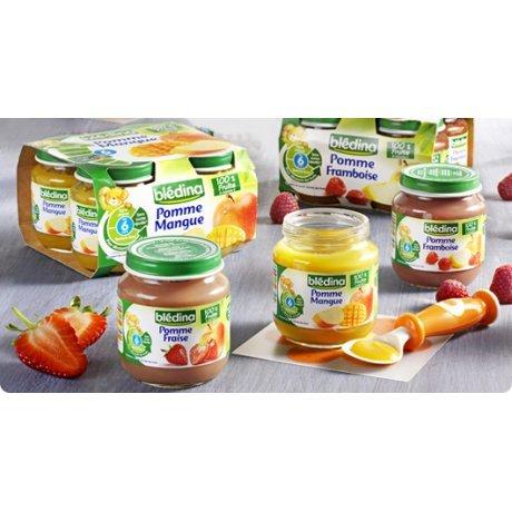 BLEDINA Pot Fruit 130 g 6 mois, Pomme Fraise par 1
