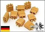 molinoRC 5 Paar Nylon XT60 Hochstrom Stecker = 10 Stück - XT60 Stecker - XT60 Connector