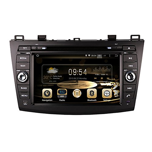 3 Sound Mazda System (GPS Navigation Android 7.1 Auto Stereo CD DVD Player in Dash Radio mit 20,3 cm LCD Bluetooth Multimedia System für Mazda CX-3 2010)