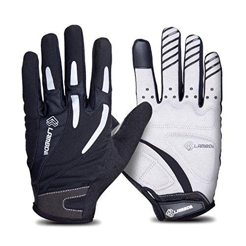 4ucycling Touchscreen Fahrradhandschuhe mit Gel Padded Super Atmungsaktiv Radsport Handschuhe S