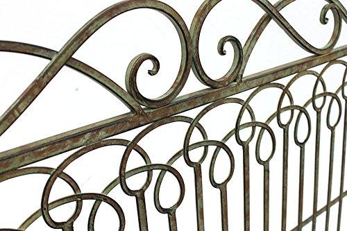 DanDiBo Bank aus Metall Gartenbank JC150014 Sitzbank Parkbank 2-Sitzer 110cm Patina Grün - 4