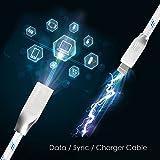 Lightning Kabel - 3m, Blau, Neustes Design - Sehr schnelles iPhone 7 Ladekabel - verstärktes USB Datenkabel mit Knickschutz - Für Apple iPhone 7 6 5, iPad, iPod - SWISS-QA Geldrückgabe Garantie - 8